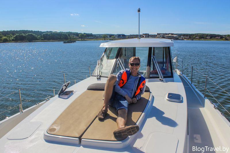 Путешествие на яхте - Минское море