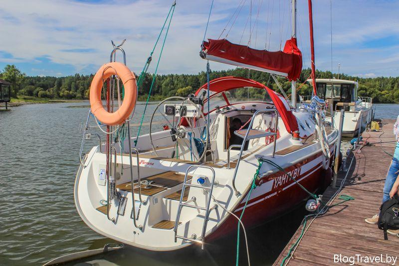 Аренда яхты на Минском море